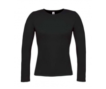 Ladies t-shirt B&C long sleeve μαύρο